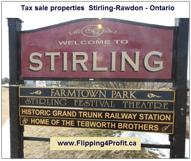 Tax sale properties Stirling-Rawdon - Ontario