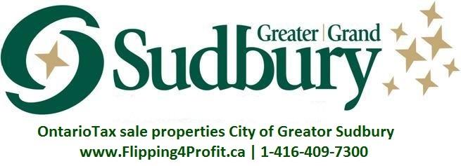 Ontario Tax Sale properties City of Greater Sudbury