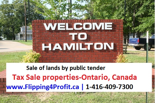 Ontario Tax Sale properties City of Hamilton