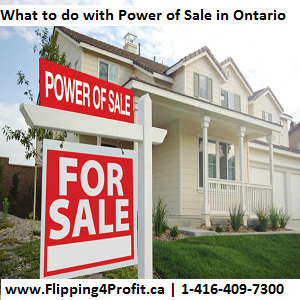 What to do with Power of Sale in Ontario
