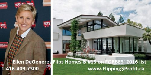 Ellen DeGeneres Flip Houses, real estate investors seminar, real estate investors training