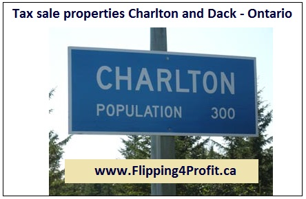 Tax sale properties Charlton and Dack - Ontario
