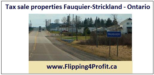 Tax sale properties Fauquier-Strickland - Ontario