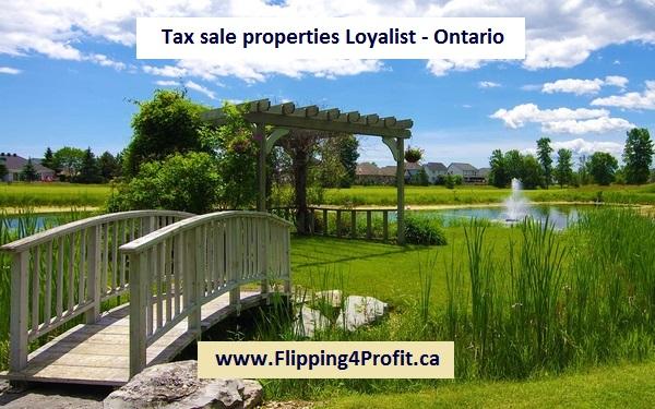 Tax sale properties Loyalist - Ontario