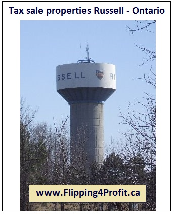 Tax sale properties Russell - Ontario