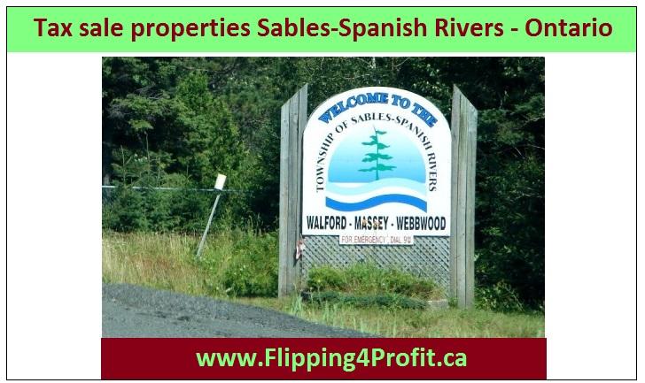 Tax sale properties Sables-spanish Rivers - Ontario