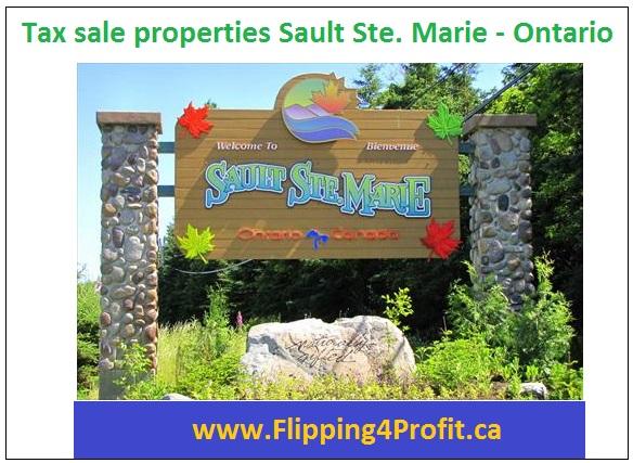 Tax sale properties Sault Ste. Marie - Ontario