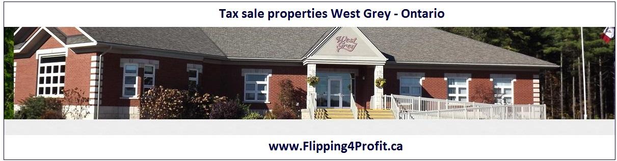 Tax sale properties West Grey - Ontario