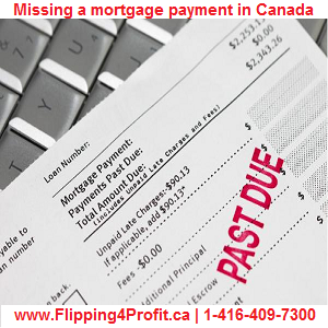 Missing a mortgage payment in Canada