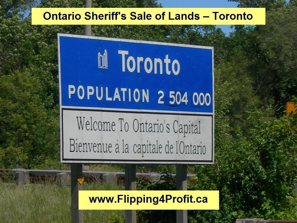 Sheriff's Sales of Lands 586 Browns Line, Toronto