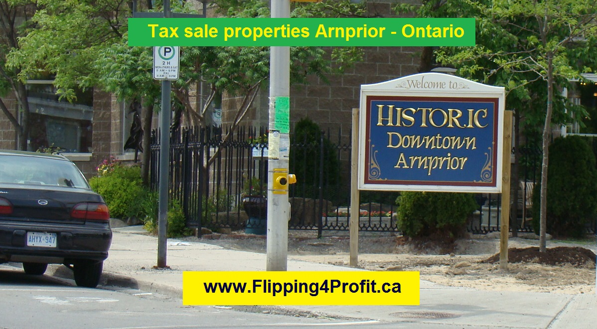 Tax sale properties Arnprior - Ontario