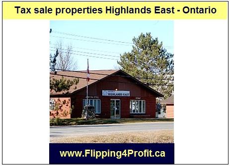 Tax sale properties Highlands East - Ontario