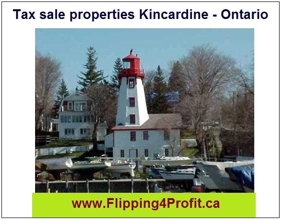 Tax sale properties Kincardine - Ontario