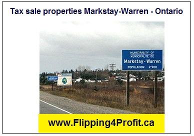 Tax sale properties Markstay-Warren - Ontario