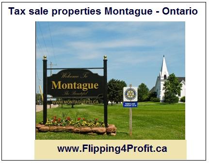 Tax sale properties Montague - Ontario