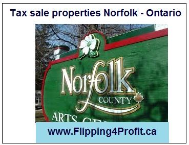 Tax sale properties Norfolk - Ontario