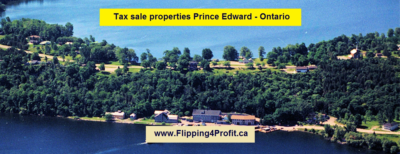 Tax sale properties Prince Edward - Ontario