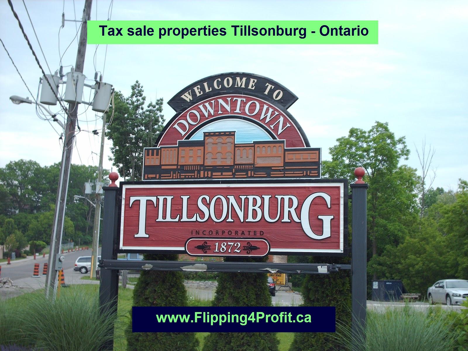 Tax sale properties Tilsonburg - Ontario