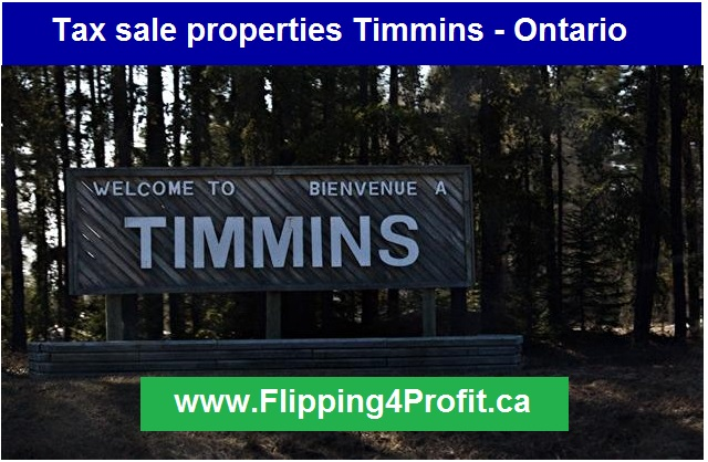 Tax sale properties Timmins - Ontario