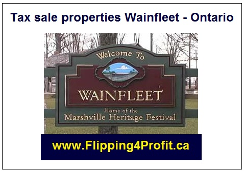 Tax sale properties Wainfleet - Ontario