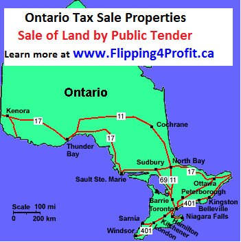 Sale of land by Public Tender, Wollaston - Ontario
