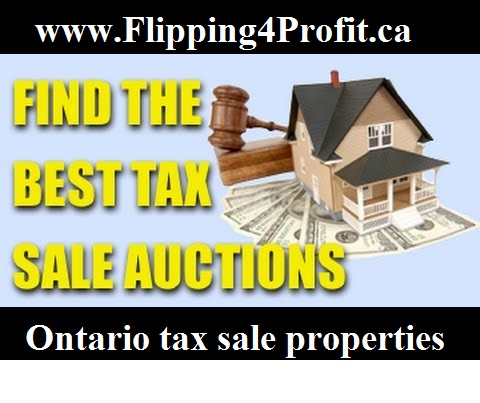 Ontario Tax Sale properties Blue Mountains