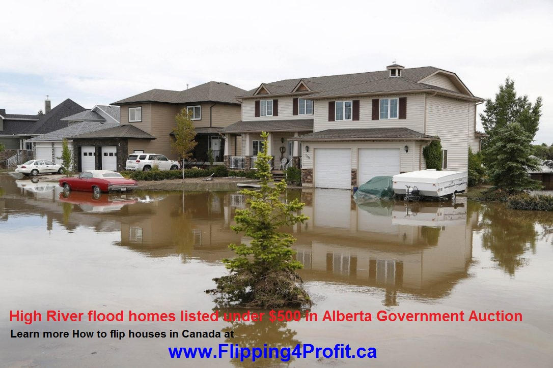 High River flood homes