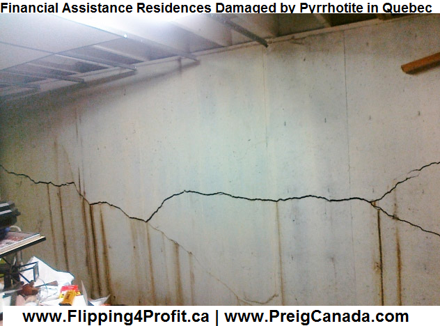 Financial Assistance Residences Damaged by Pyrrhotite in Quebec Canada
