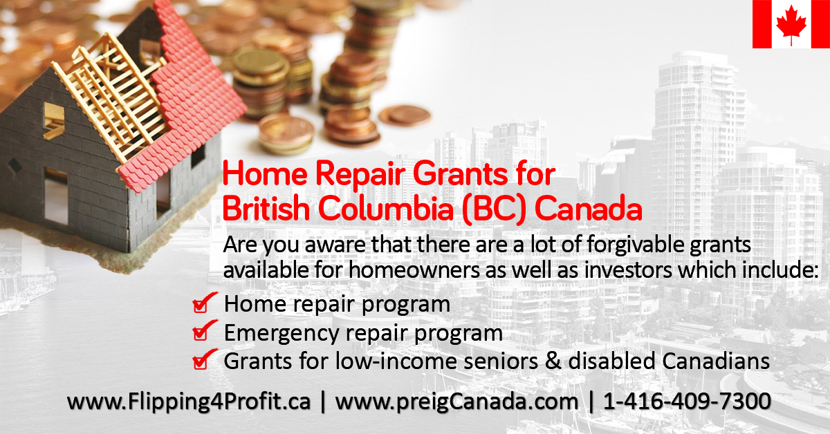BC Home Repair Grants