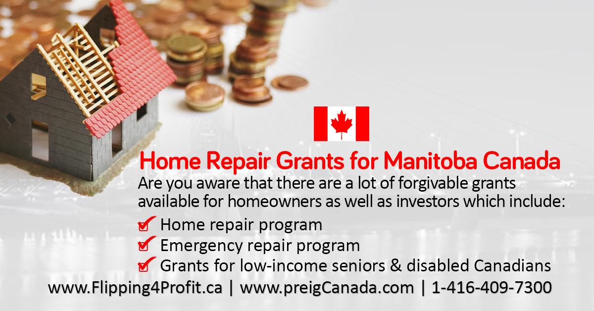 Manitoba Home Repair Grants