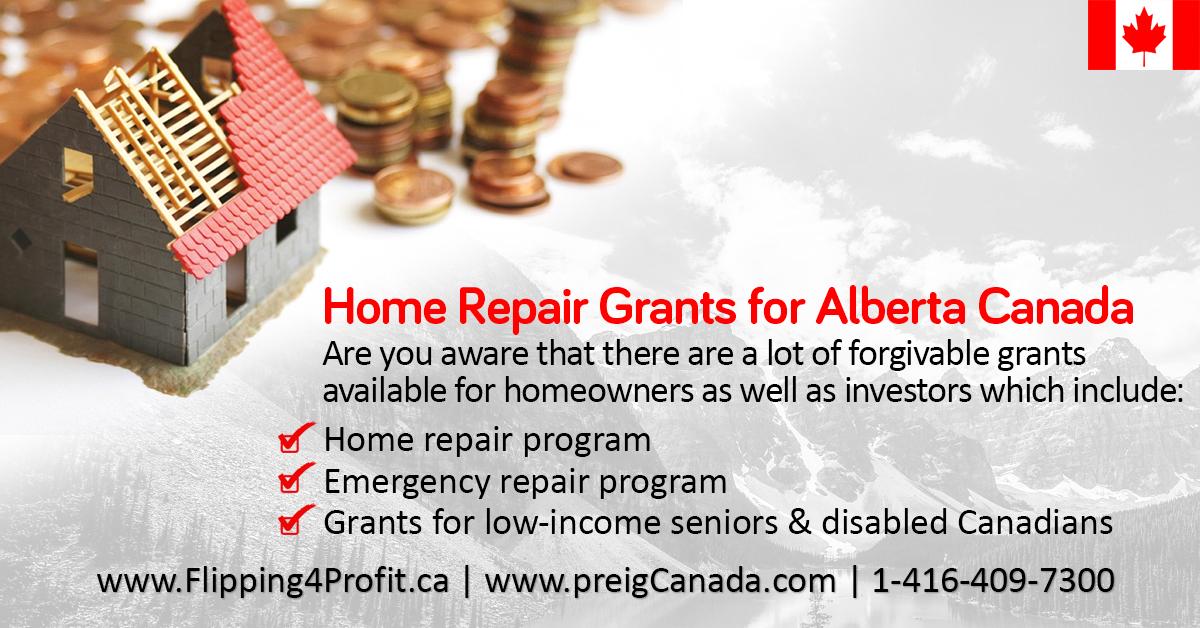 Alberta Home reapir Grants